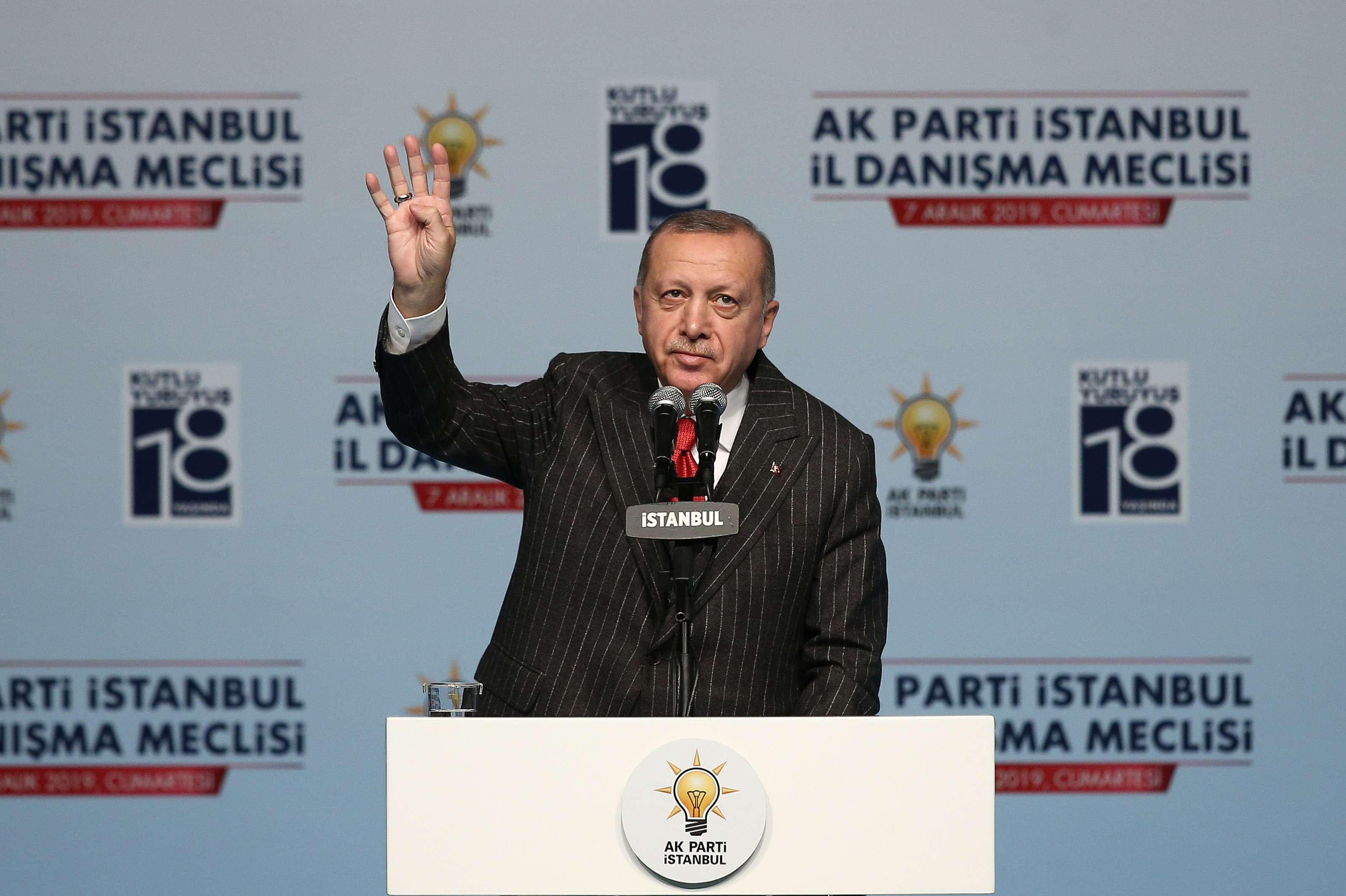President Erdoğan delivered a speech at the Provincial Advisory Council meeting of party  in Istanbul