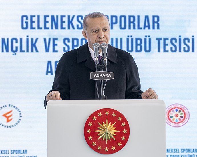 President Erdoğan spoke at the opening ceremony of Ankara Traditional Sports Complex