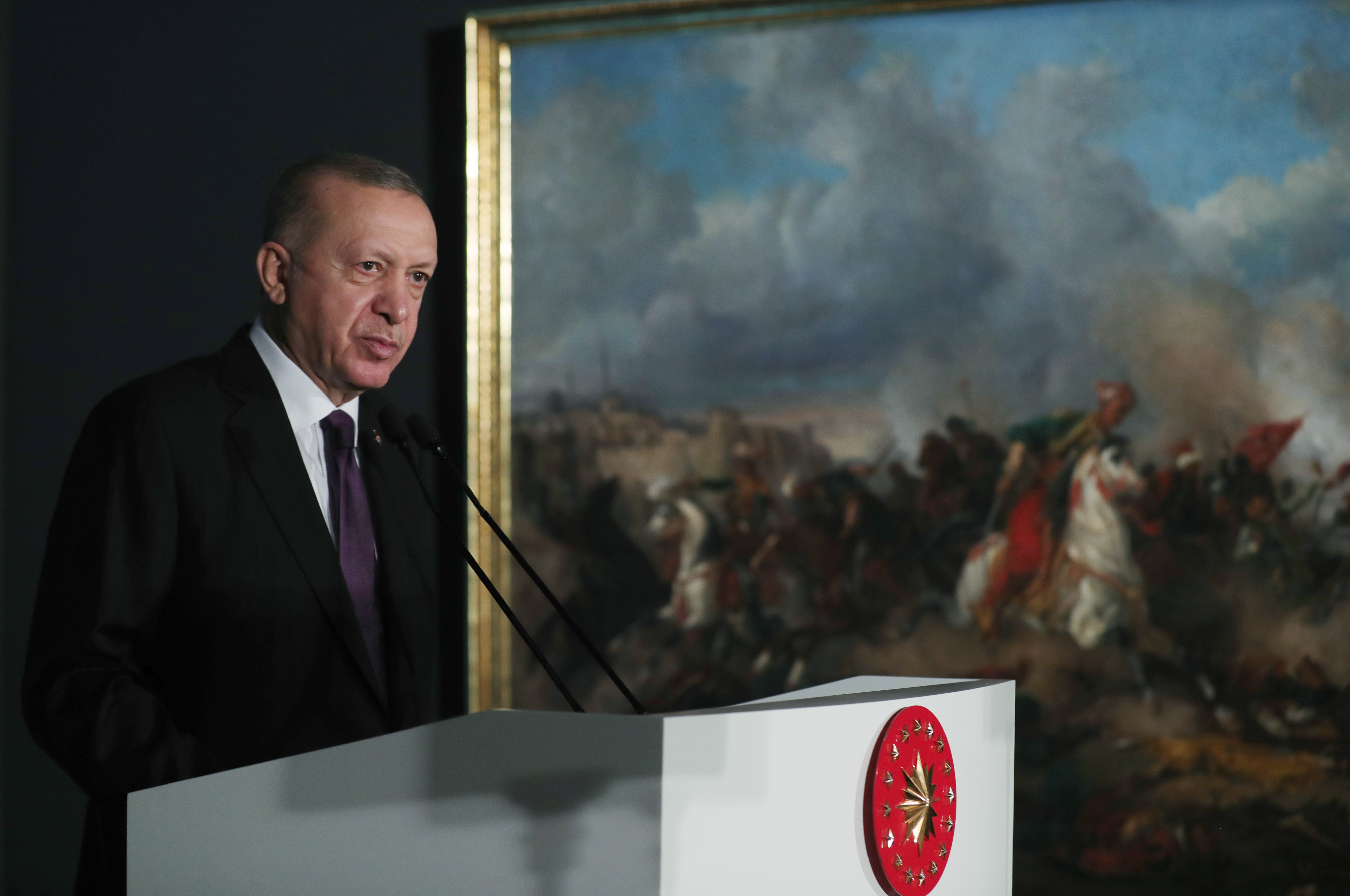 President Erdoğan attended the opening ceremony of the newly-restored Museum of Painting of the National Palaces