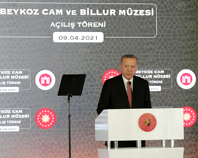 President Erdoğan speaks at the opening ceremony of a museum in Istanbul