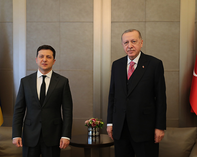 President Erdoğan meets with President Zelensky of Ukraine