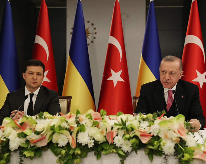 President Erdoğan hold a  joint news conference with his Ukrainian counterpart Zelensky