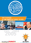 THE CHANGE BY AK PARTİ IN THREE YEARS