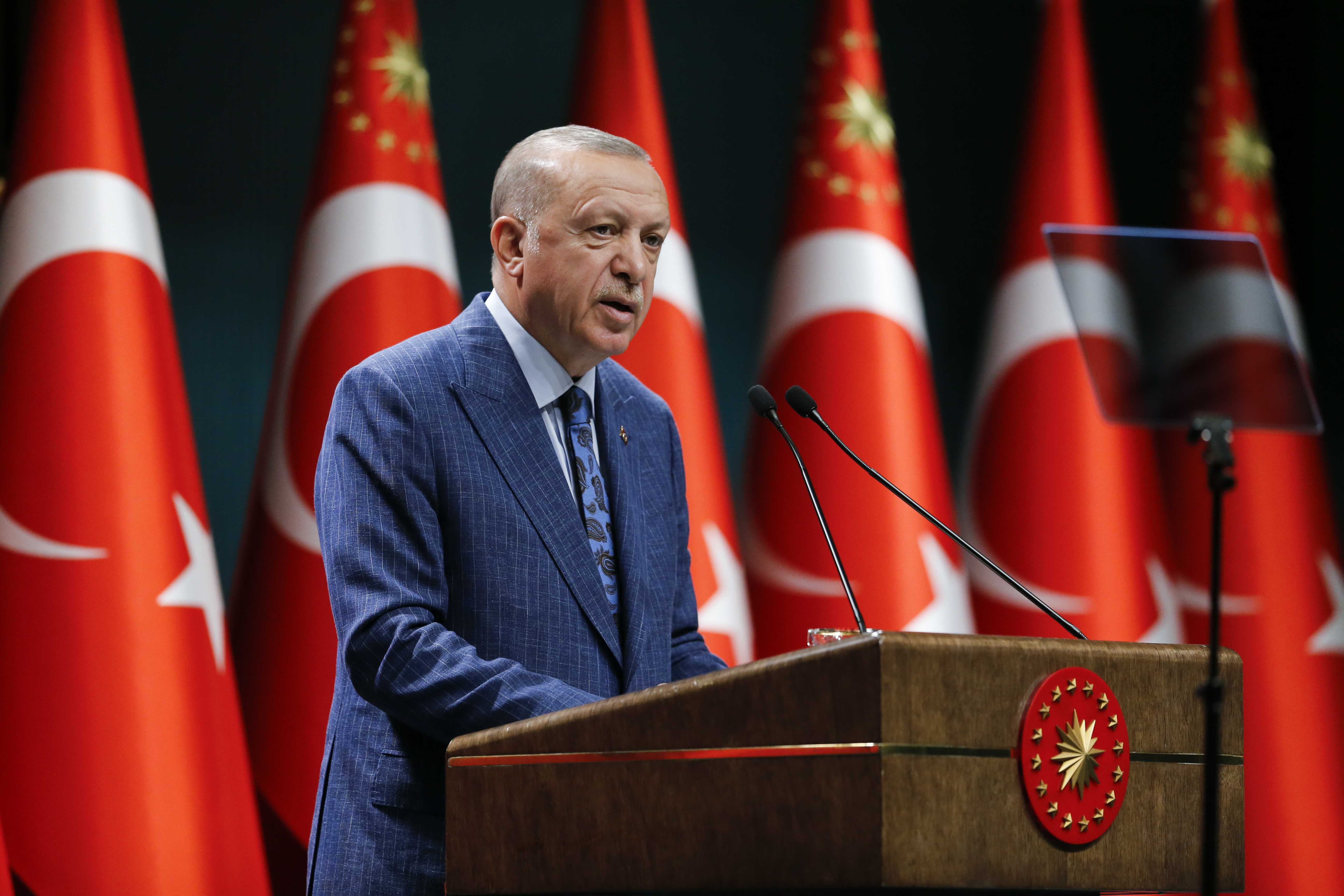 President Erdoğan held a press conference following the meeting of the Presidential Cabinet at the Presidential Complex