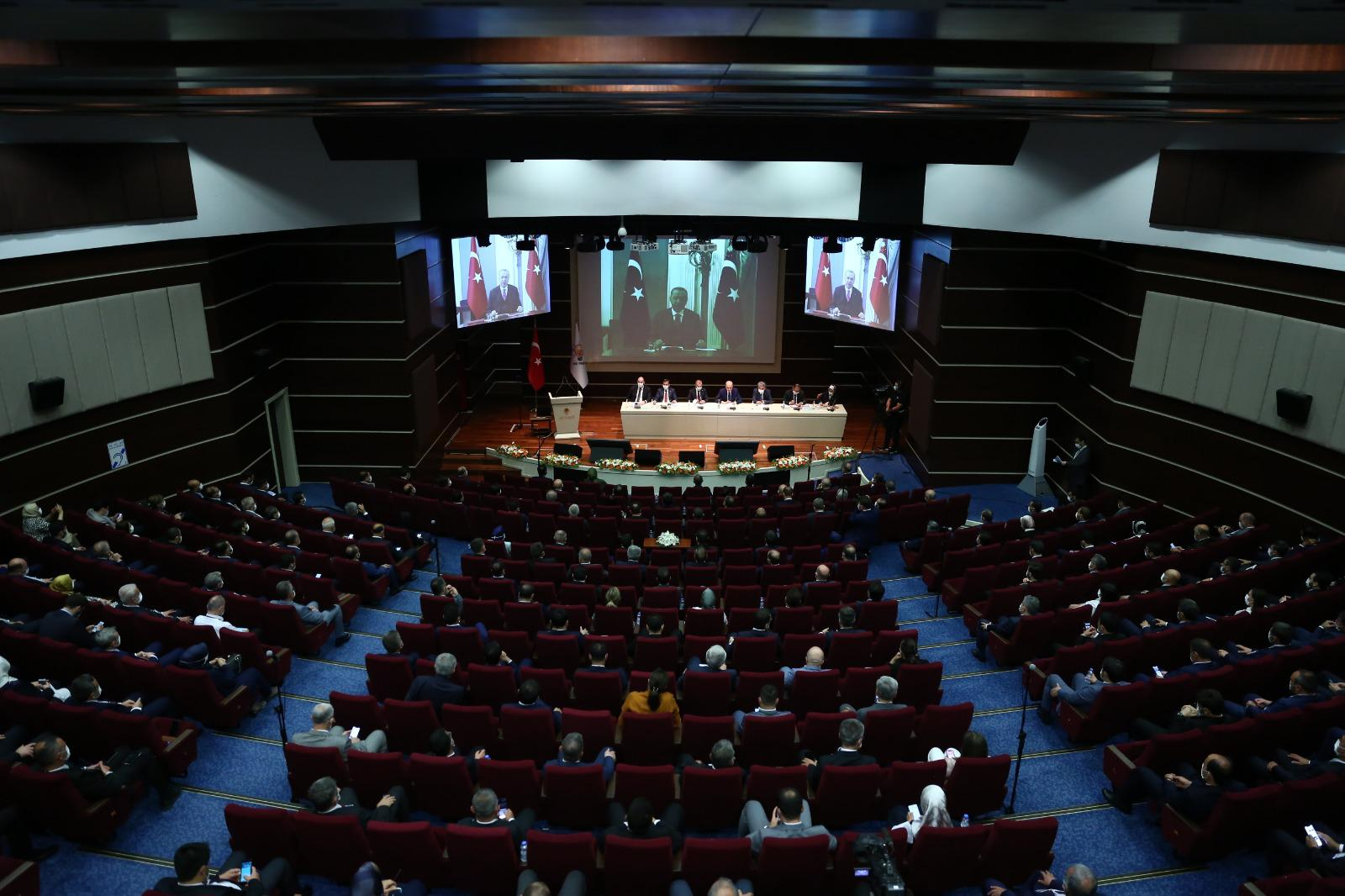 President Erdoğan addressed via videoconference the party's provincial heads