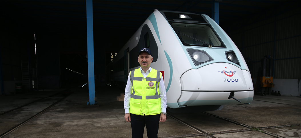 """Maximum operational speed of first Turkish-made electric train to be 160 km/h (99.4mi/h)"""